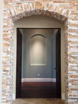 Exposed stone archway