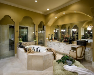Large master bathroom with jacuzzi bathtub
