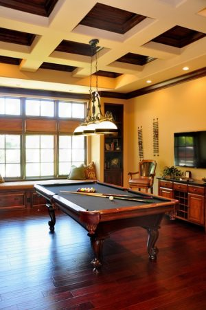 Pool table in formal entertaining area