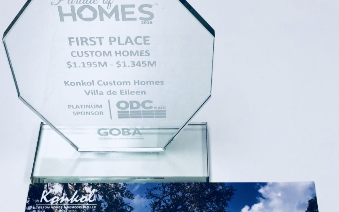 Konkol Custom Homes Wins 1st Place in GOBA Parade of Homes