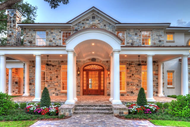custom home front porch
