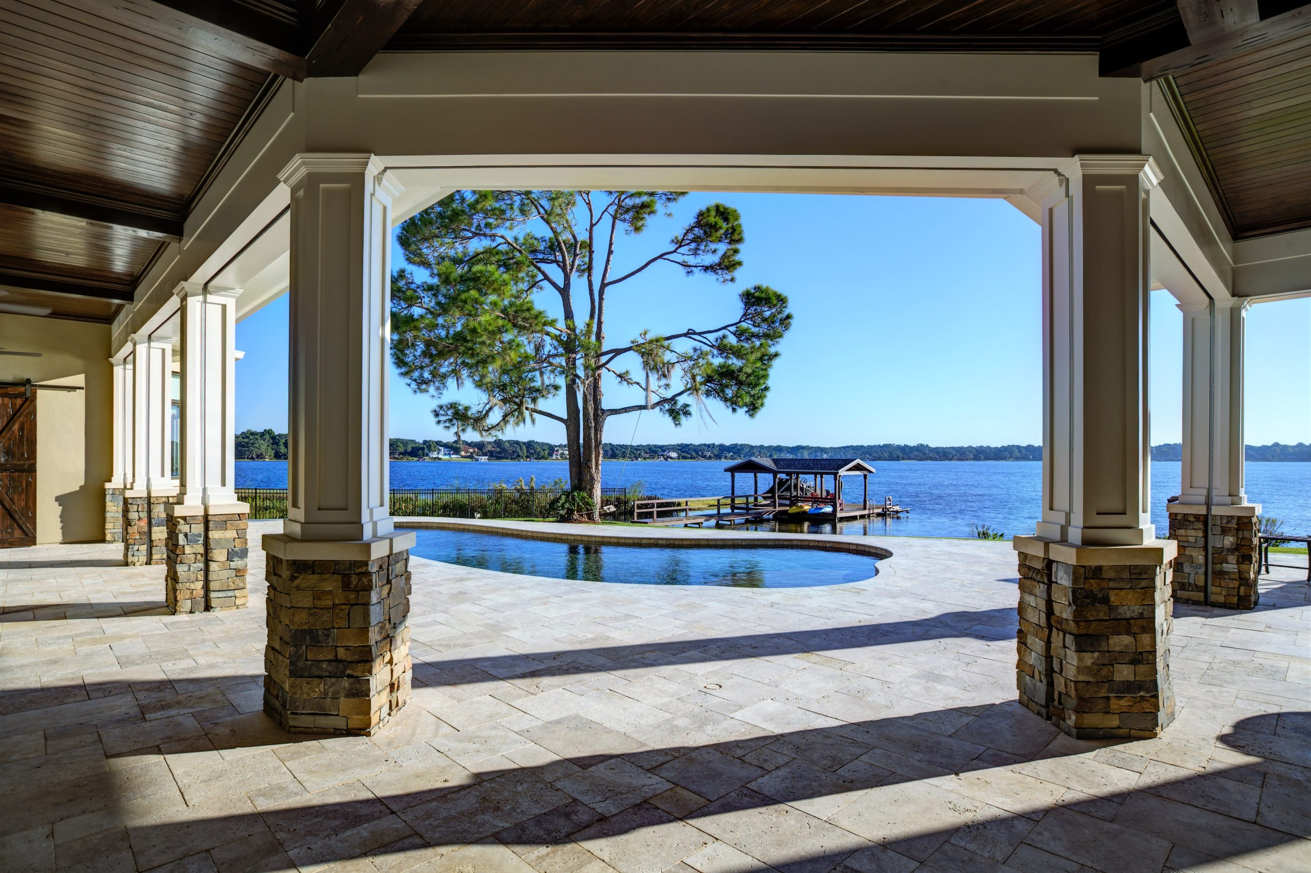Orlando Custom Home with pool and fountains